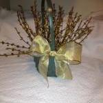 Berry Basket, Sage, Cream & Gold