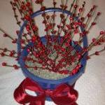 Basket, Blue and Red Berry
