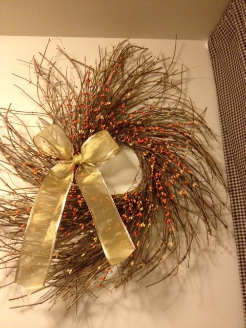 Fall Wreath, Twiggy Wreath 25 Inch Autumn Harvest