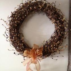 Wreath, Grapevine 18 inch, Fall Wreath