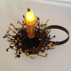 Taper Candle with Holder, LED Candle