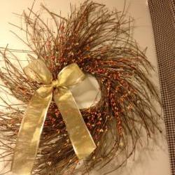 Fall Wreath, Twiggy Wreath 25 Inch Autumn Harvest